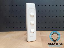 Clipsal Architrave 3 Gang Light Switch (2033A-WE) 1-2 Way | LED 10A 240V - White