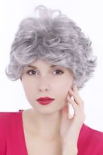 Perruque Femme Court Cheveux Gris Argenté Bouclée 30 CM GFW513-51