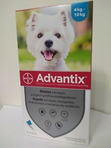 ADVANTIX¹ chien puce tique  Flea Tick Treatment  4-10 kg Bte 4 pipettes