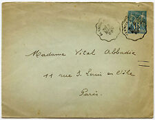 FRANCE 1888 TPO POSTMARK on POSTAL STATIONERY ENVELOPE SANNOIS A PARIS