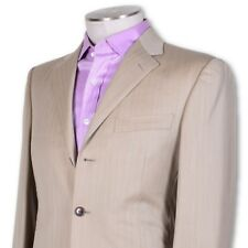 NEW NWT Belvest Light Beige Three Button Wool Dual Vent Suit 1/4 Lined 40 40r
