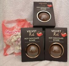 Velvet Rich Hot Chocolate Bombs with Marshmallows Inside Pack of 3