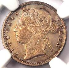 1894 Straits Settlements Victoria 10 Cents 10C - NGC AU58 - Rare Certified Coin