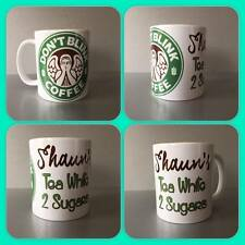 personalised mug cup any name dr who weeping angels starbucks style tardis gift