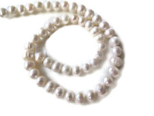White Fresh Water Cultured Pearls Round Beads 15 Inches 50 Piece 7mm To 8mm FP32