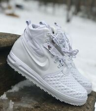 online retailer 876fc aead5 Nike LF1 Duckboot  17 PRM Lunar Force 1 Triple White AA1123-100 NEW All