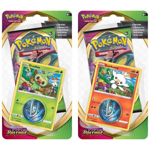 Pokemon TCG: Sword & Shield - Vivid Voltage Scorbunny/Grookey Blister Pack
