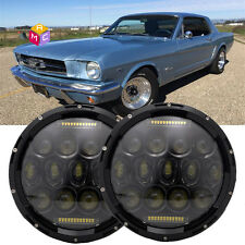 DOT 7 Inch Round LED Headlights sealed hi/low beam for Ford Mustang 65-78 truck