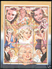 manueduc  BLOQUE 9 Sellos MARILYN MONROE 1996 SAHARA OCCIDENTAL En Pesetas