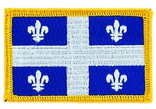 FLAG PATCH PATCHES QUEBEC  PROVINCIAL IRON ON EMBROIDERED SMALL CANADA