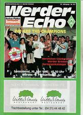 BL 91/92 SV Werder Bremen - 1. FC Nürnberg