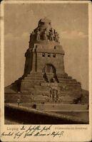 Leipzig Sachsen alte Postkarte 1924 gelaufen Partie am Völkerschlacht Denkmal