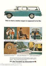 International Harvester IH Travelall Advertisement 1964  car station wagon ad