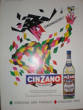 Cinzano bianco cinzanoscope art advert 1965