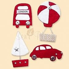 PRETTY TRANSPORT  DIE CUTS FOR CARDS OR CRAFT - SET 2