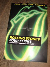 THE ROLLING STONES - FOUR FLICKS !!!!RARE FRENCH PROMO POSTER!!!!!!!