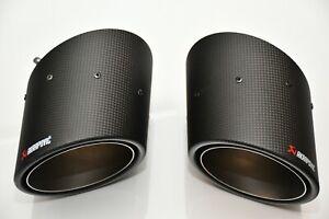 New Akrapovic Carbon Duplex tailpipe set Fiat Abarth 500 595 Competizione