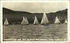 Sailing - Laurentide Inn Ste Agathe Des Monts Quebec Real Photo Postcard