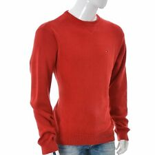 Tommy Hilfiger Mens Knitted Red Pullover Long Sleeve Sweater Crew Neck Size L