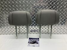 2009-2011 HONDA PILOT REAR SEAT 2ND ROW HEADREST SET HEAD RESTS GRAY CLOTH OEM