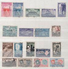 Francobolli Repubblica 1951 1952 annate complete