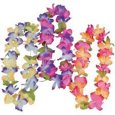 Lot of 12 Mahalo Flower Leis Hawaiian Luau Tropical Beach Wedding Favors