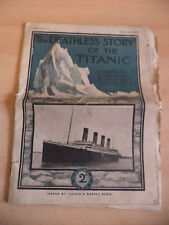 OLD ANTIQUE ORIG RARE MAGAZINE NEWSPAPER DEATHLESS STORY TITANIC LLOYDS 1910S