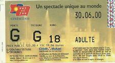 RARE / TICKET ENTREE SPECTACLE - PUY DU FOU / VENDEE - LE 30 JUIN 2000
