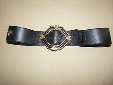 ceinture cuir femme noire 70 cms