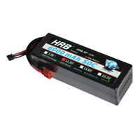 HRB 11.1V 6000mAh 3S RC LiPo Battery 50C 100C Hardcase for Drone Car Truck Boat