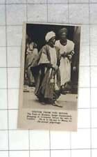 1921 Barefoot Emir Of Katsine, Sudan Shopping In Liverpool On Way To Mecca