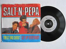"SALT-N-PEPA - TWIST AND SHOUT / GET UP EVERYBODY - 7"" 45 rpm vinyl record"