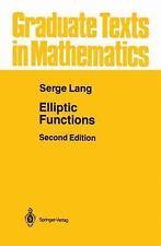 Elliptic Functions: By Serge Lang