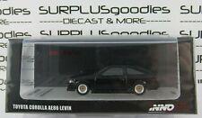 INNO64 1:64 Scale Black TOYOTA COROLLA AE86 Levin w/Extra Wheels & Hood Decal