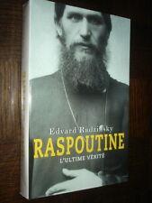 RASPOUTINE - L'ultime vérité - Edvard Radzinsky 2000