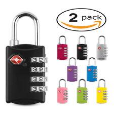 2 X TSA SECURITY 4 COMBINATION TRAVEL SUITCASE LUGGAGE BAG CODE LOCK PADLOCK NEW