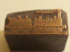 Rare tampon d'imprimerie ancien locomotive à vapeur  début 20ème steam train