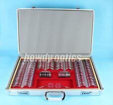 Brand New Ophthalmic 266pcs Trial lens Set Case Shiny Metal rim Aluminium case