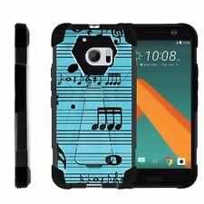 For HTC 10 | One M10 | Dual Bumper Case  Kickstand - Musical Blues