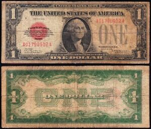 *SCARCE* 1928 $1 RED SEAL United States Note! FREE SHIPPING! A01790902A