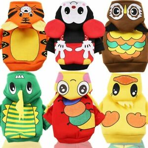 Cute Animal Dog Clothes Winter Hoodie Dog Jackets Chihuahua Yorkie Outfits Coats