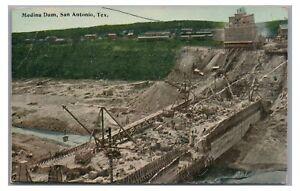 Medina Dam Construction SAN ANTONIO TX Vintage Texas Postcard