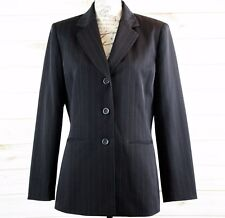 Collections for Le Suit Women's Black Pinstripe Career Blazer / Jacket - Size 8