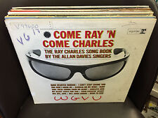 Allan Davies Singers Come Ray 'N Come Charles Songbook LP white label promo VG+