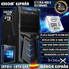 Ordenador Gaming PC Intel i3 10100 10th 8GB 1TB HDMI de sobremesa Windows 10 Pro
