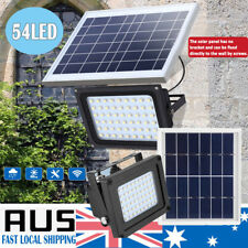 54 LED Solar Powered Light Wall Security Flood Outdoor Garden Path Street Lamp