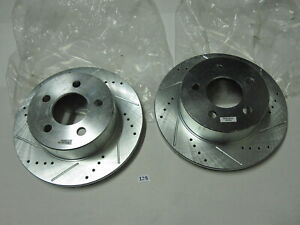 Power Stop AR8745XL/AR8745XR Pair Disc Brake Rotor Drilled Slotted Front Pair