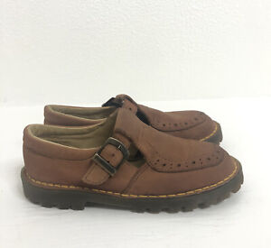 Dr Martens The Original Air Wair Kid's Size 13 Brown Mary-Jane T-strap Shoes