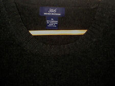 BROOKS BROTHERS LUXURY LAMBS WOOL CASHMERE DARK MOSS GREEN SWEATER-NICE- XL