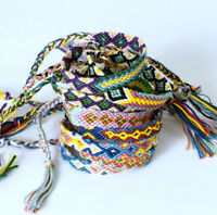 1pc Boho  Ethnic Handmade Bracelet Summer Beach  Cotton Rope Friendship Bracelet